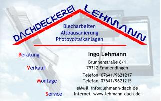 Dachdeckerei Lehmann